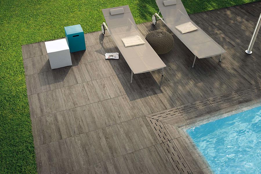 Dlažba na terasy a bazény - Keramická protišmyková dlažba na terasy a okolie bazénov