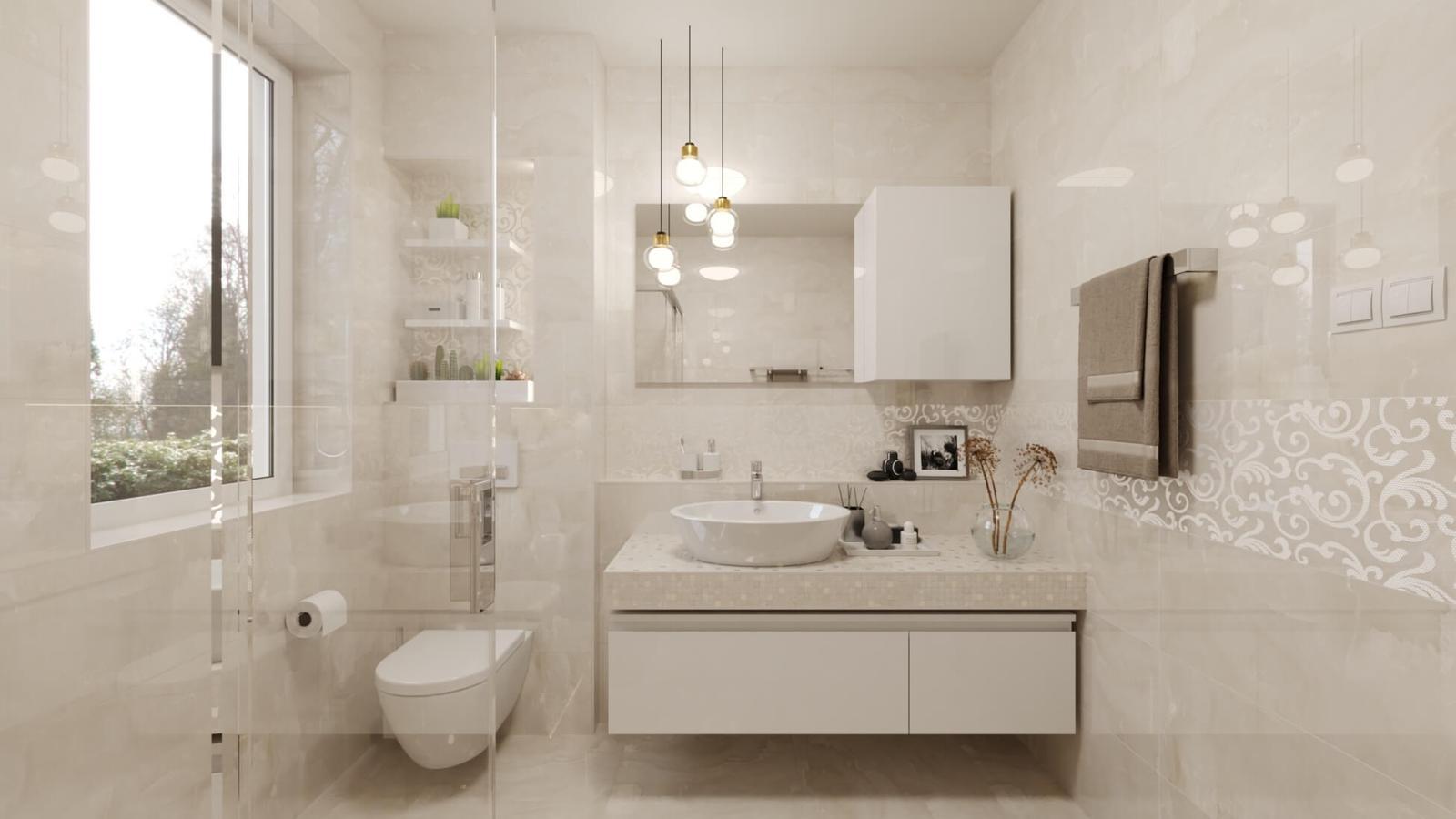 3D návrh elegantnej kúpeľne - Vizualizácia kúpeľne