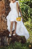 Svadobné šaty - vpredu krátke, 40