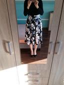 Nenosená skladaná sukňa do pásu, 38