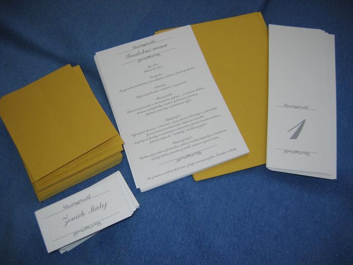 Prípravy na náš vysnívaný deň - výroba menoviek, menu a čísla stolov...ešte polepiť a je to :D