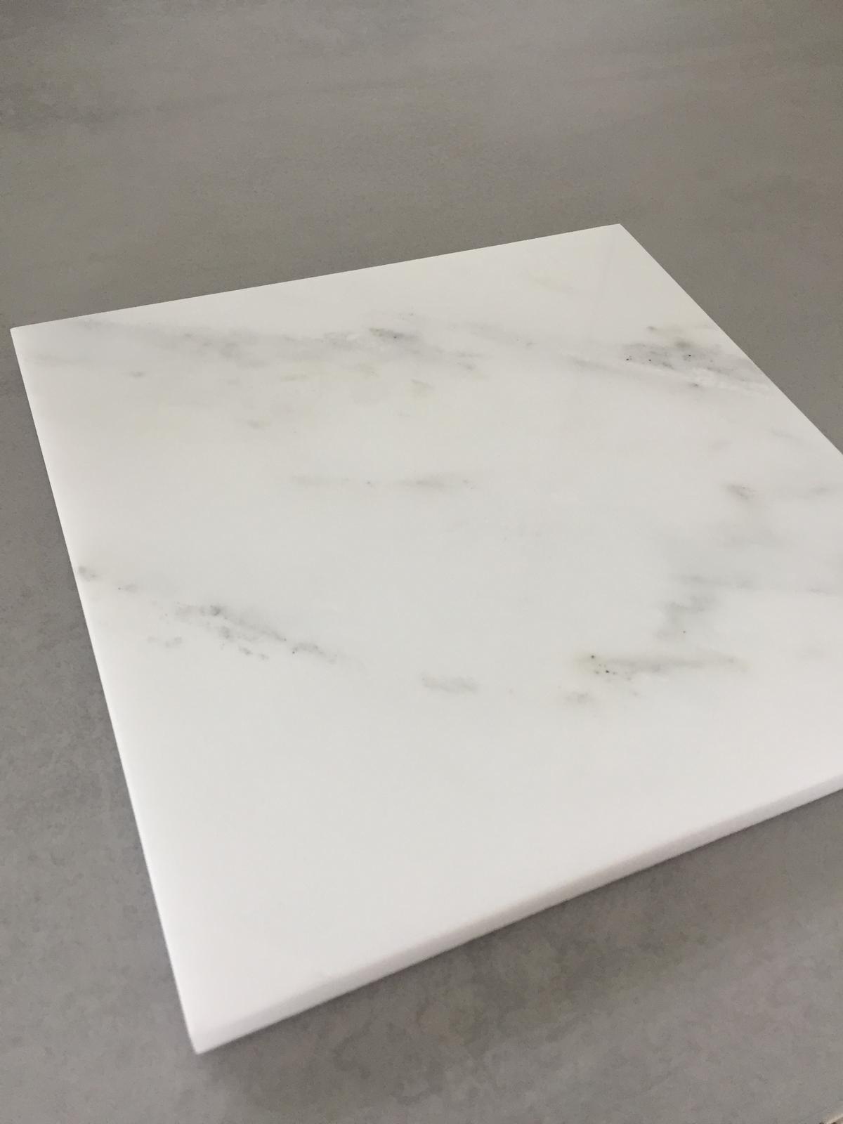 Servírovací tác Marble White 20x20cm - Obrázek č. 1