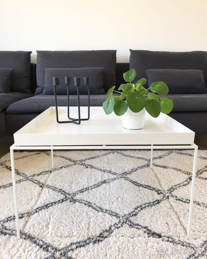 Designový konferenční stolek Hay Tray rable, 60x60 cm bílý - Obrázek č. 1