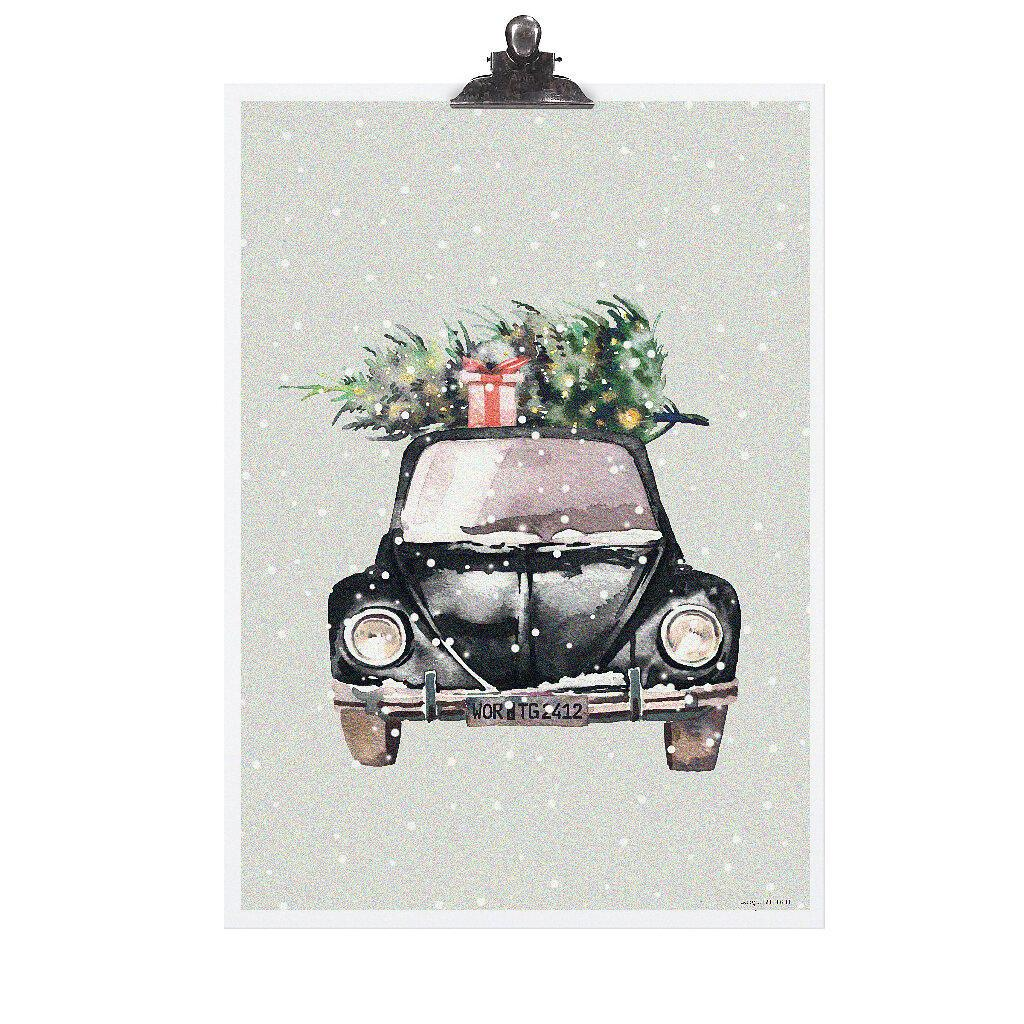 Plakát Christmas Car 30x42 cm (Tafelgut) - Obrázek č. 1