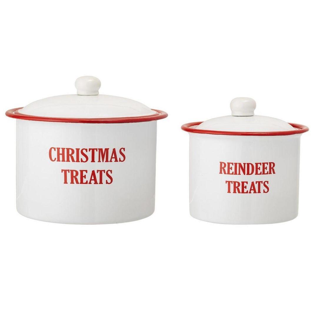 Vánoční kovová dóza Reindeer Treats (Bloomingville) - Obrázek č. 1