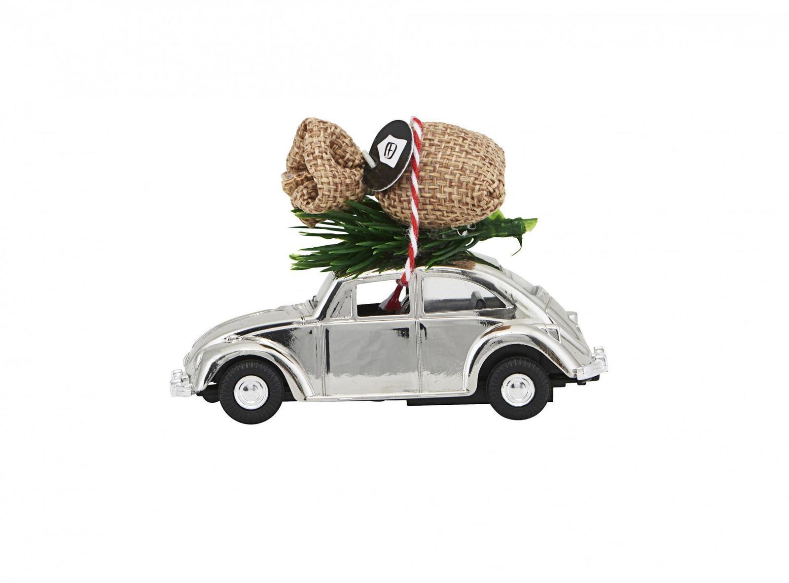 Vánoční autíčko Xmas Car Mini Chrome (House Doctor) - Obrázek č. 1