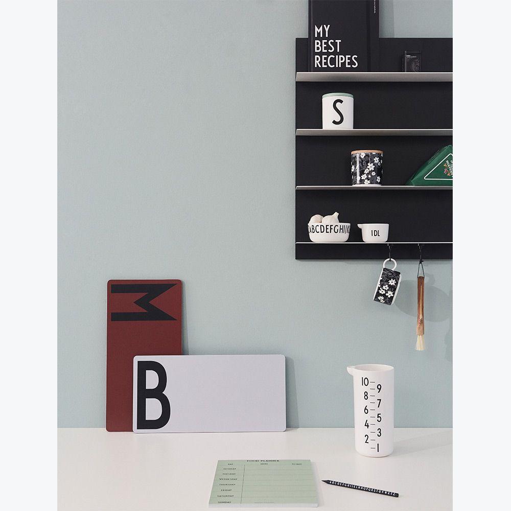 Dřevěné šedé prkénko B (Design Letters) - Obrázek č. 1