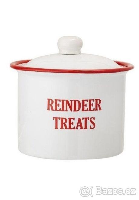 Vánoční kovová dóza Reindeer treats (Bloomingville) - Obrázek č. 3