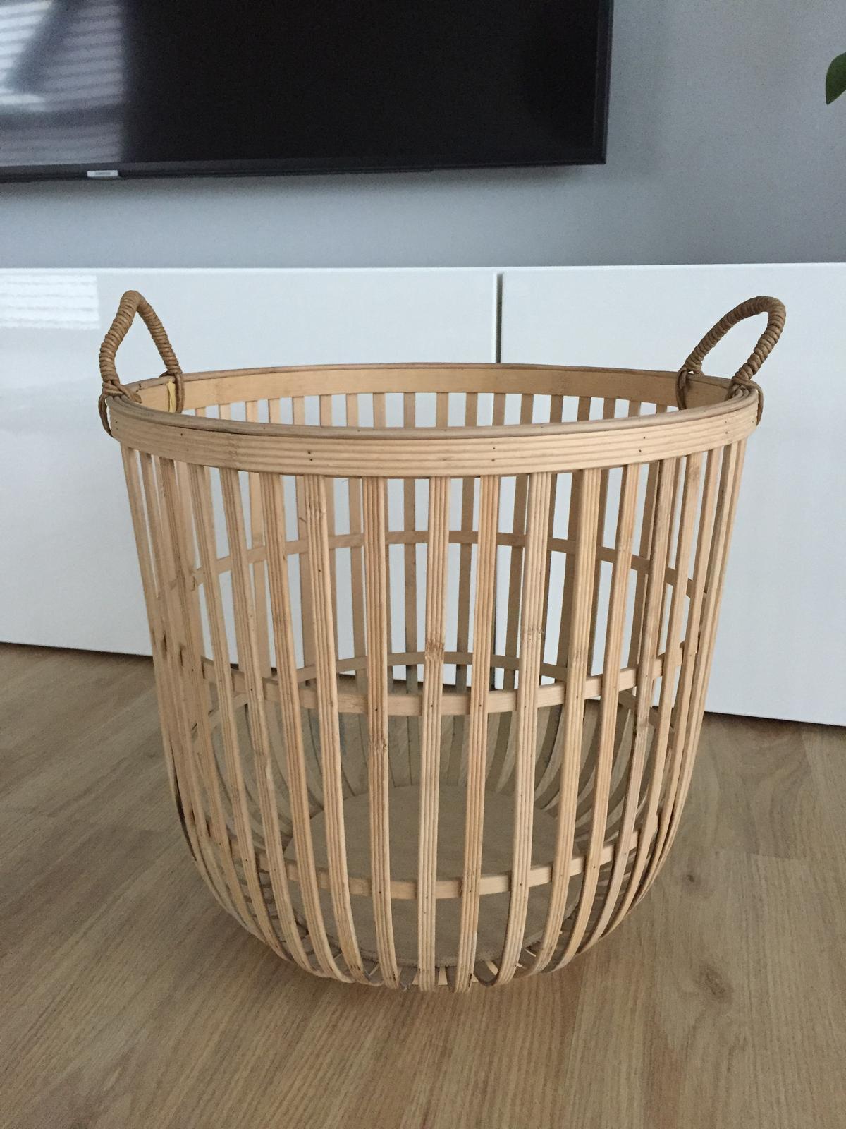 Bambusový koš Hübsch - Obrázek č. 1