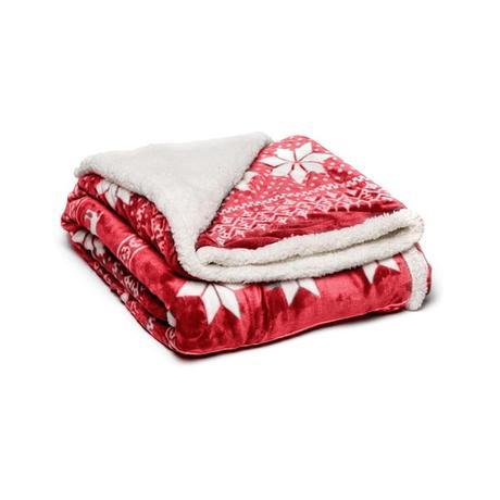 Červená mikroplyšová deka My House Winter, 150 x 200 cm - Obrázek č. 1