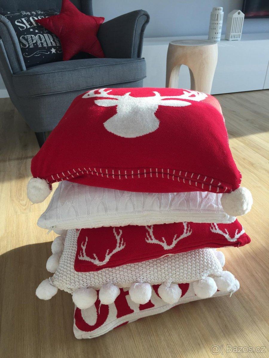 dekorace - Vánoční povlaky na polštářky v bazárku :-)