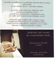 pozvánka ke stolu, z druhé strany básnička..:)