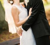 Celokrajkové šaty s vlečkou pro menší nevěsty, 36