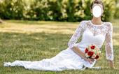 Dlouhé krajkové svatební šaty , 37