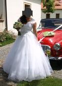 svatební šaty vel.38-44 sněhově bílé, 42