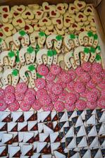 Cukroví - tvořila nevěsta sama
