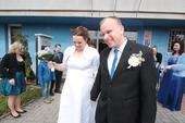 Svatební šaty velikost 48-52, 50