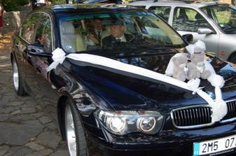 můj řidič a moje krásně nazdobené auti