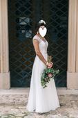 Vílovské svadobné šaty, znížená cena, 36