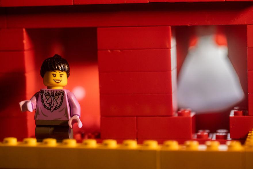 Fotograf počas pandémie vytvoril svadobné fotky vďaka stavebnici LEGO - Obrázok č. 4