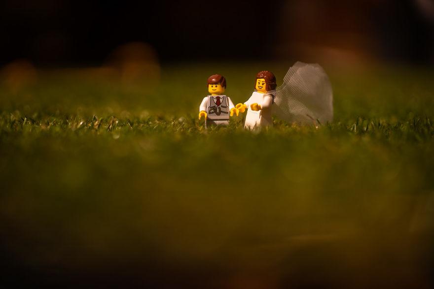 Fotograf počas pandémie vytvoril svadobné fotky vďaka stavebnici LEGO - Obrázok č. 8