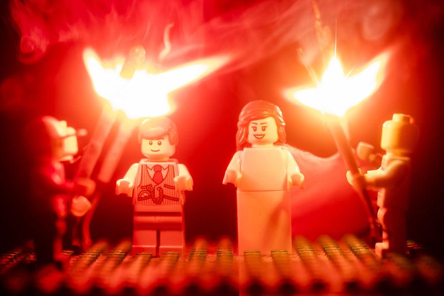 Fotograf počas pandémie vytvoril svadobné fotky vďaka stavebnici LEGO - Obrázok č. 23