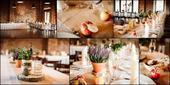 Jutové ubrusy na svatební stoly,