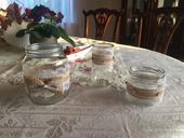 Sklenice (svícny či vázy) - rustikální svatba,