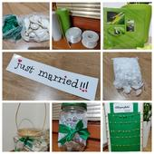 Set na bilo-zelenou svatbu,