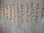 Vývazky - žluto- fialová,