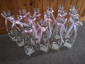 Skleněné vázy PEPCO 15ks,