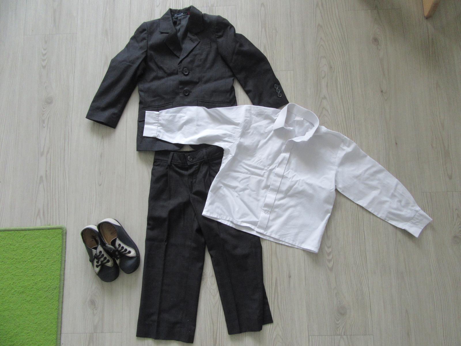 Dětský oblek a boty vel 98 - Obrázek č. 1