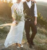 Boho svatební šaty, 36