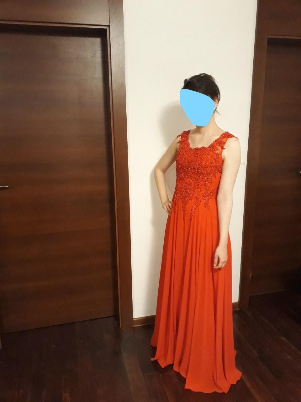 Červené popolnočné šaty č. 36  - Obrázok č. 2