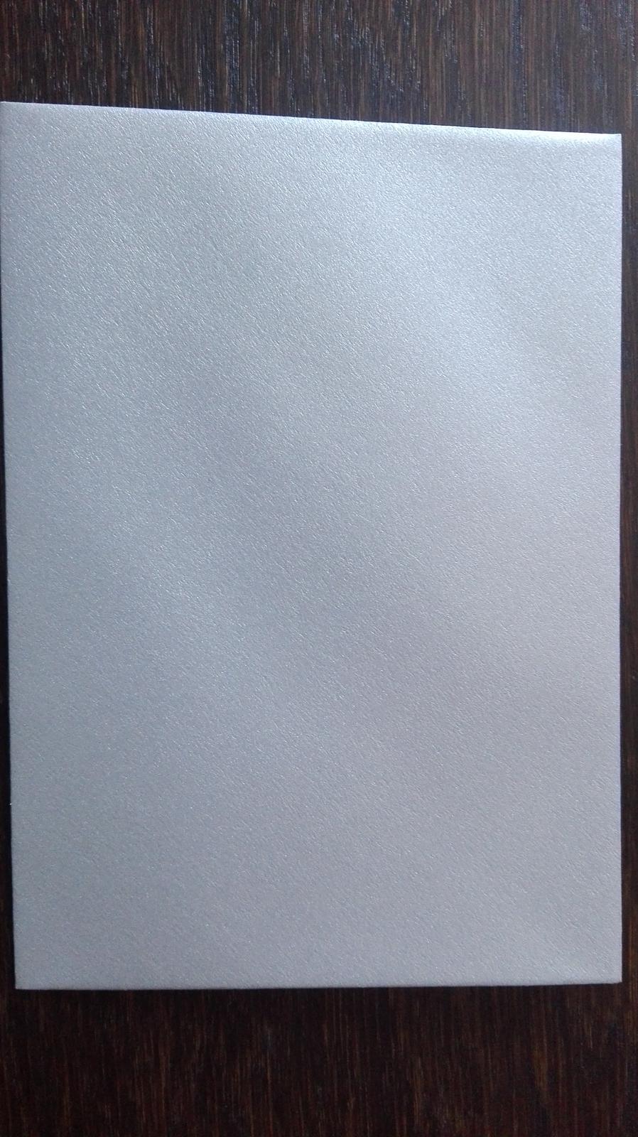 Strieborné obálky na oznámenia - Obrázok č. 3
