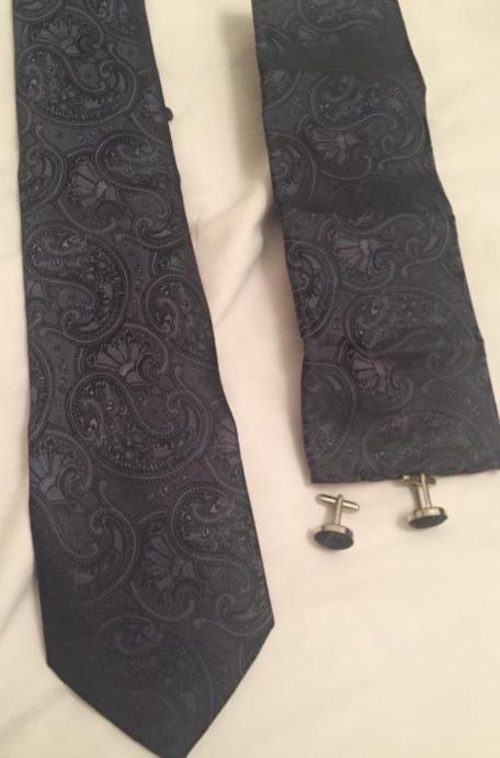 Kravata+kapesníček+manžetové gombíky - Obrázok č. 1