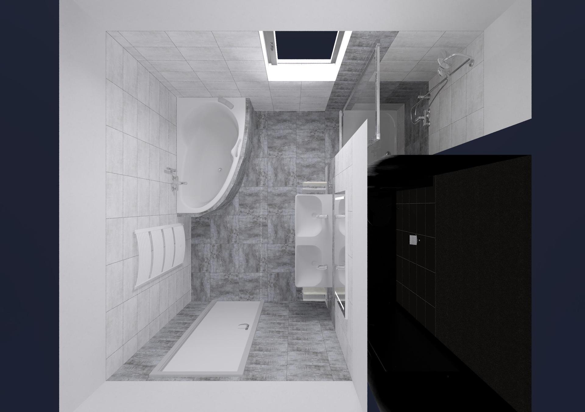Koupelna a toaleta - návrh - Obrázek č. 3