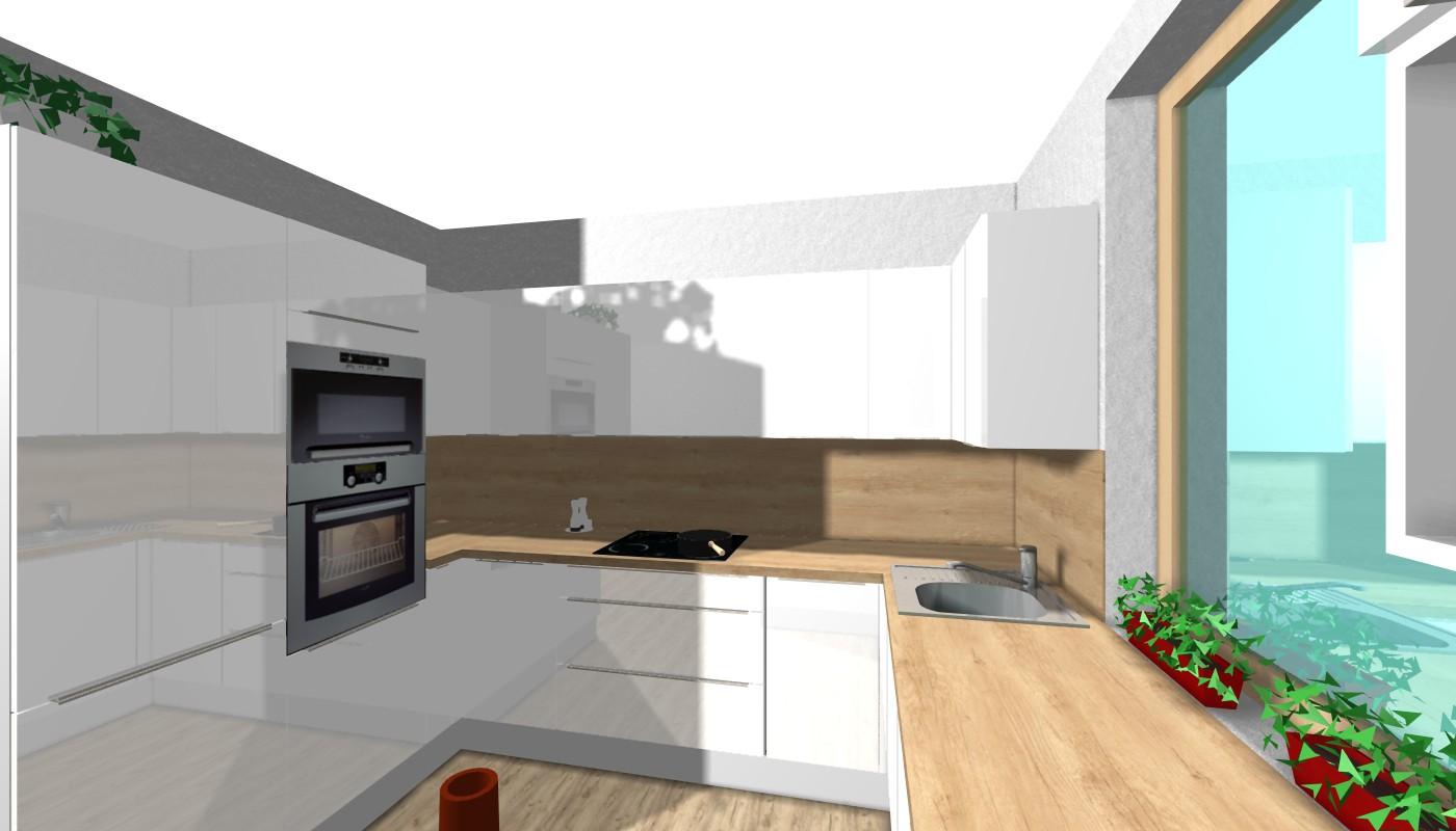 Návrh kuchyně - Návrh bez spíže