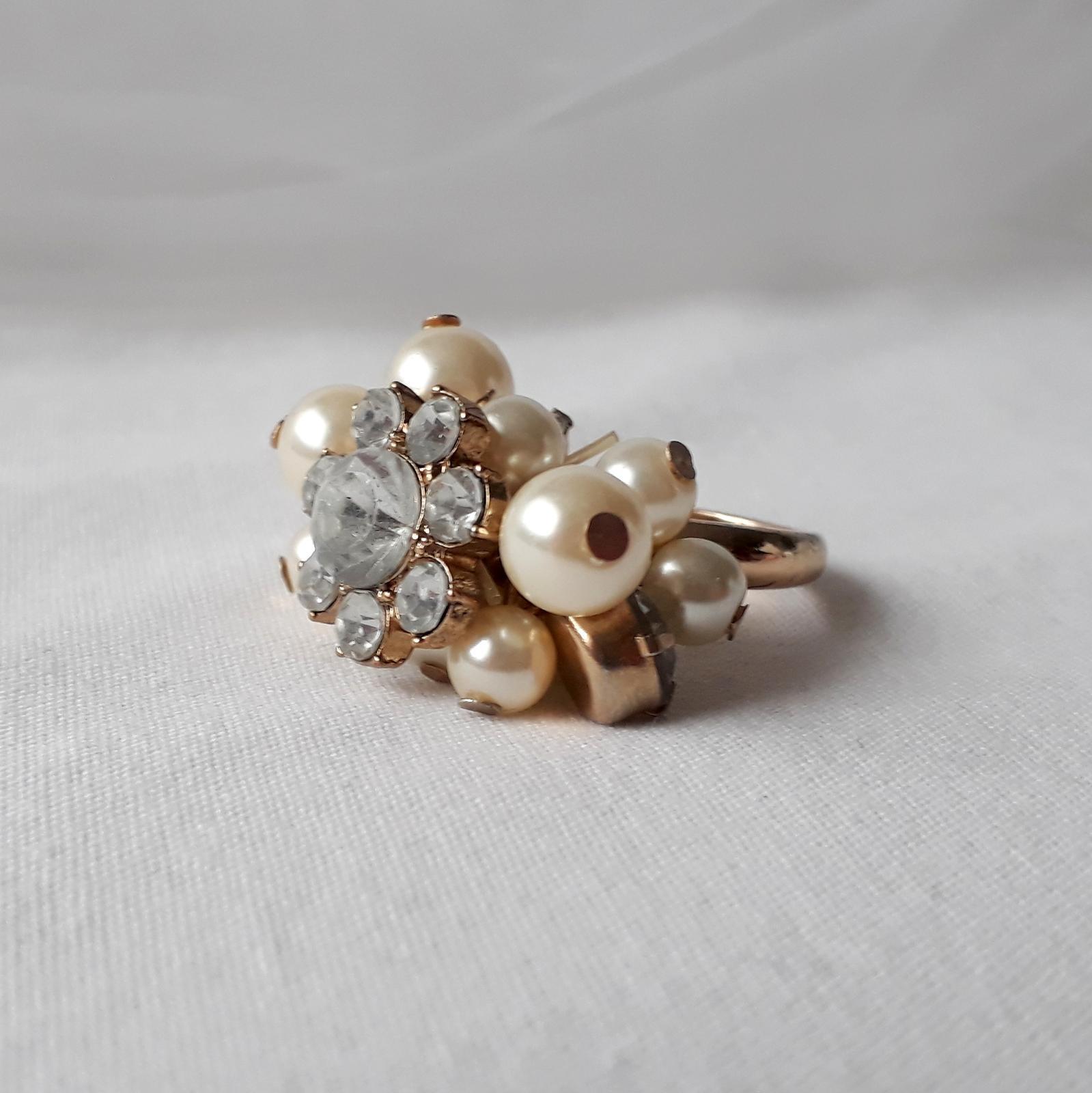 Zlatý prstýnek s perličkami - Obrázek č. 4