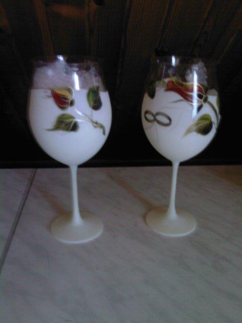 Všetko okolo svadby - svadobné poháre nádherný kúsok za dobrú cenu