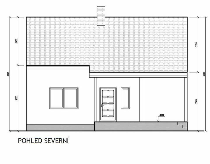 Domeček rekonstruujeme pro rodiče - Pohled ze zahrady nový stav