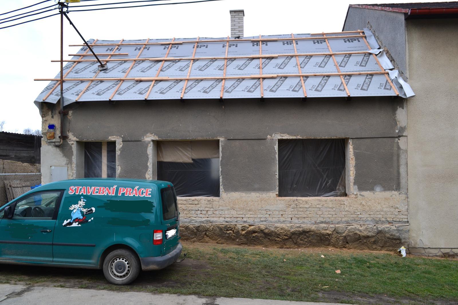 Domeček rekonstruujeme pro rodiče - připraveno na nová okna