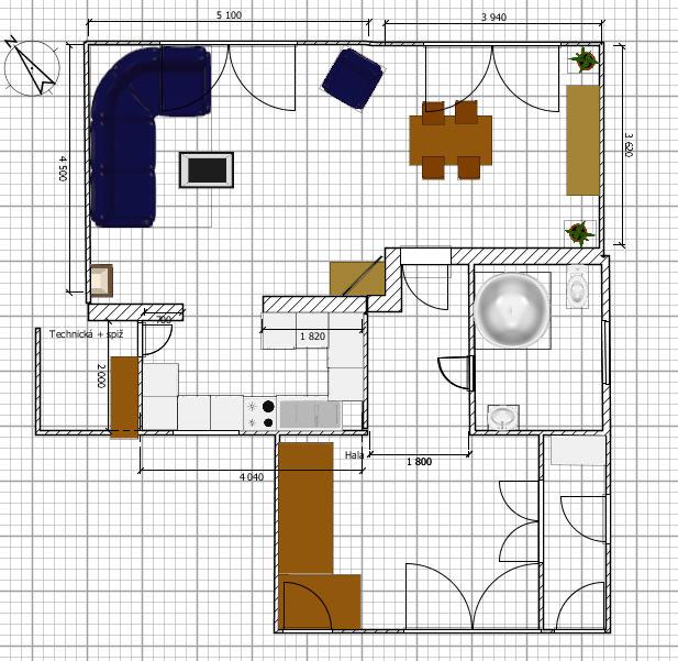Rekostrukce našeho bydlení - Vítězné řešení přízemí