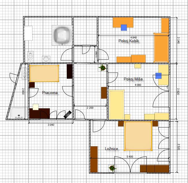 Rekostrukce našeho bydlení - Vítězné řešení prvního patra