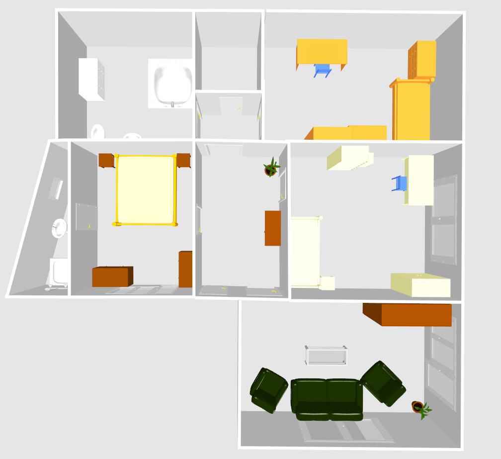 Rekostrukce našeho bydlení - Menší změna... Ložnice bude v malém pokoji a obývák zůstane náhradním obývákem.