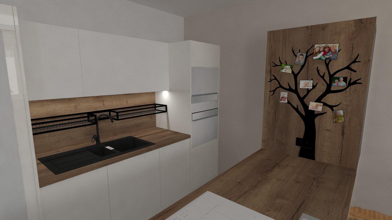 Při nedávné částečné rekonstrukce kuchyně a nového obývacího pokoje to nebylo jen o nábytku, ale i o doplňcích opět navržených na míru a na základě podkladů od nás i vyrobených. Jedná se o magnetický strom a drátěnou polici s výklenem kvůli vysoké baterii. Co říkáte, jak se Vám tyto produkty líbí? - Obrázek č. 1