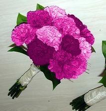 Předloha malé kytice na házení a pro svědkyně- ta měla být stejná jen jednobarevná