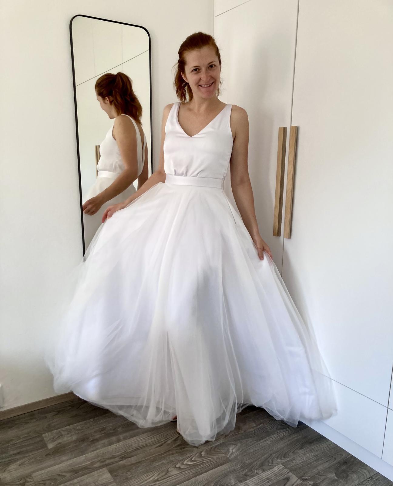 Svatební šaty vel 38/40 - Obrázek č. 1