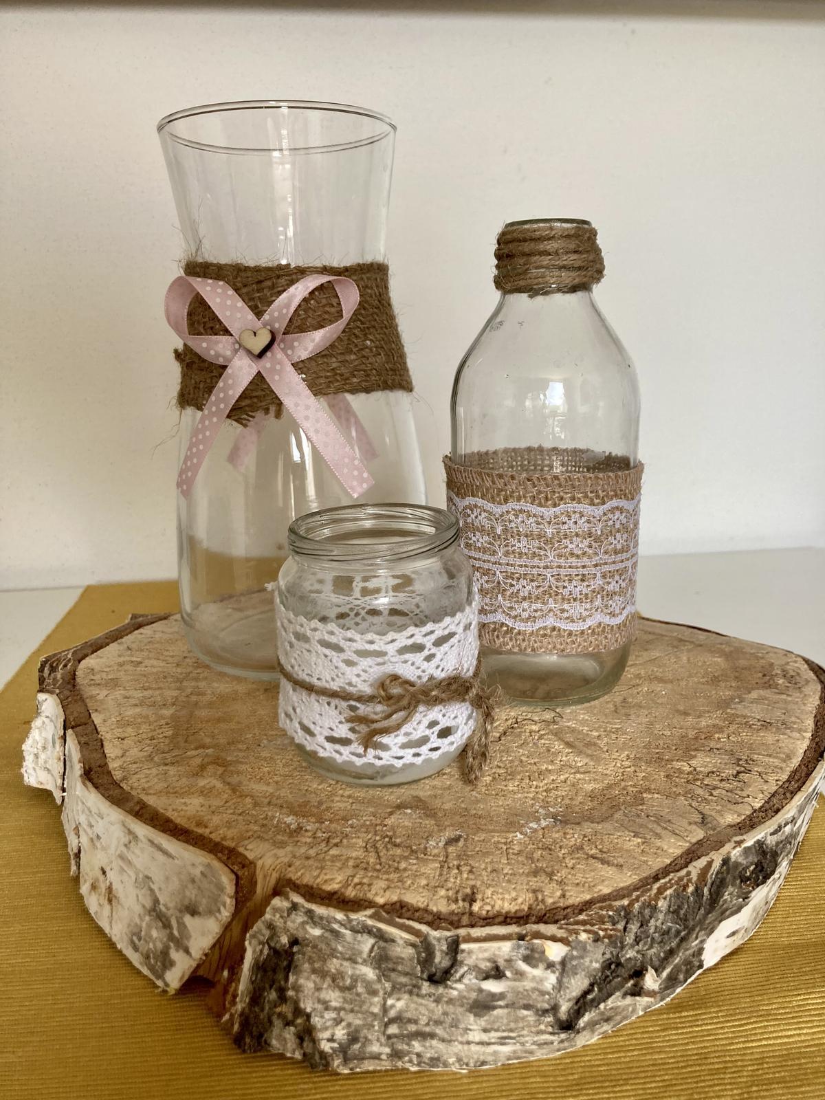 Dekorace - vázy a svícny (více ks) - Obrázek č. 1