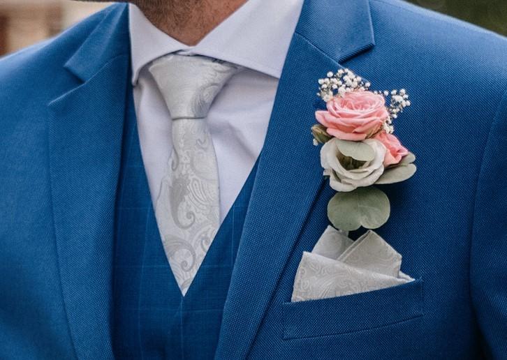 Svatební kravata a kapesníček CIAO di Max Tara - Obrázek č. 1